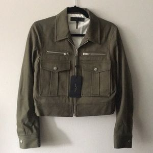 NWT Rag & Bone olive green military style jacket